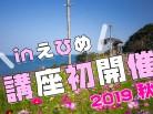 コスモスと下灘駅/海に近い駅(愛媛県伊予市